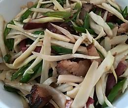 高笋炒腊肉条的做法
