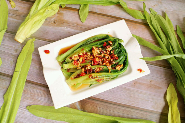 #轻食系王者#豉油油麦菜的做法