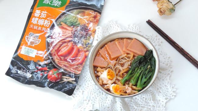 #饕餮美味视觉盛宴#番茄火腿糖心蛋螺蛳粉的做法