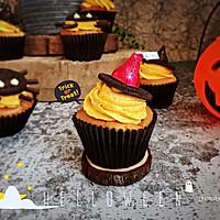 南瓜酸奶小蛋糕(万圣节之女巫的帽子)
