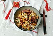 腊肉干锅有机花菜#盛年锦食•忆年味#的做法