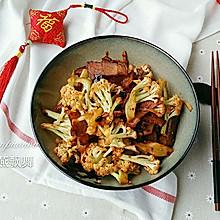 腊肉干锅有机花菜#盛年锦食•忆年味#