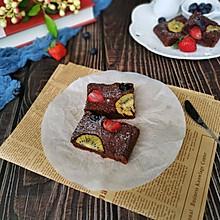 水果巧克力蛋糕#一道菜表白豆果美食#