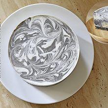 【视频】大理石纹 免烤黑芝麻慕斯蛋糕
