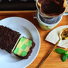 双色棋格班兰酸奶蛋糕