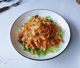 葱辣麻酱油豆皮的做法