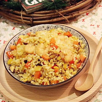 ·咖喱虾仁炒饭·