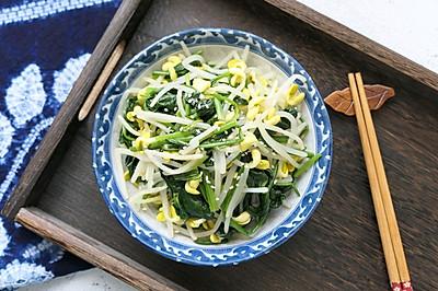 #春季减肥,边吃边瘦#菠菜拌黄豆芽