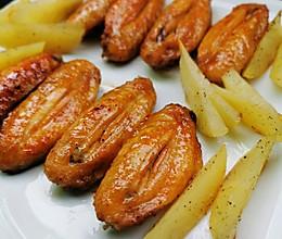 烤鸡翅+土豆的做法