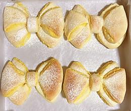 蝴蝶结面包(南瓜泥椰蓉馅)的做法