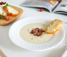 无油培根土豆浓汤的做法