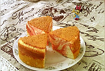 #硬核菜谱制作人##金龙鱼烘焙赛阿狗战队#红曲大理石戚风蛋糕的做法