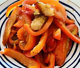 甜椒肉丝儿的做法