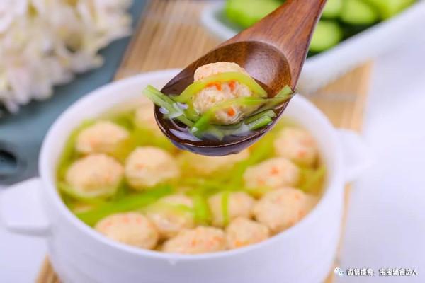 黄瓜鸡肉丸子汤 宝宝辅食食谱的做法