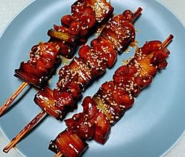 家庭减脂版日式大葱鸡肉串的做法
