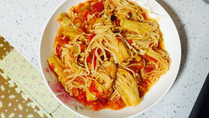 西红柿炒金针菇(绝配)