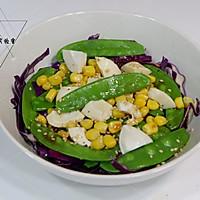 油醋汁甜豆玉米紫甘蓝沙拉的做法图解7