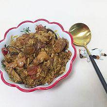 香菇腊肠焖鸡饭
