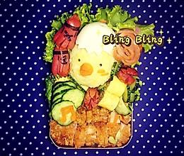 小鸡便当儿童餐旅游便当#自己做更健康#的做法