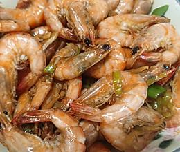 普普通通酱油虾的做法