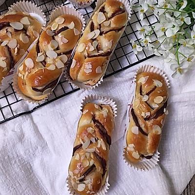豆沙馅辫子面包(汤种法)