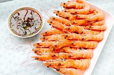 粤式经典--白灼虾,酱汁