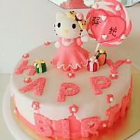 Kitty翻糖蛋糕(二)的做法图解14