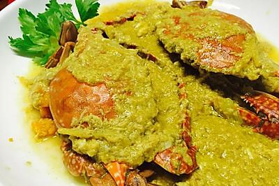 简化少油版咖喱蟹