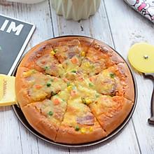 美味的培根披萨