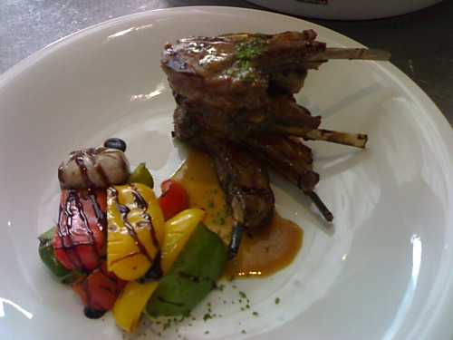 Lamb chop   with    Rosemary  sauces