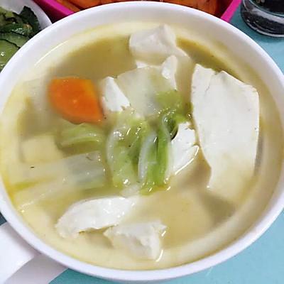 大白菜胡萝卜豆腐汤