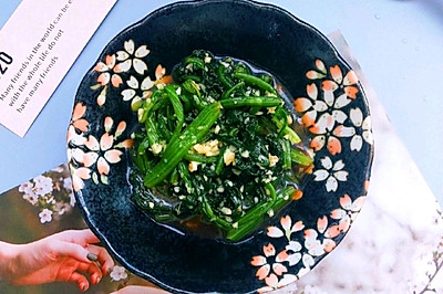 家常蒜泥菠菜