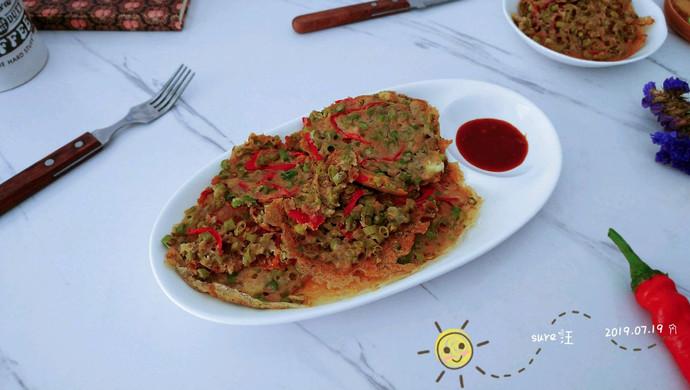 葱香椒椒燕麦饼