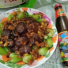 #李锦记旧庄蚝油鲜蚝鲜煮#香菇油菜