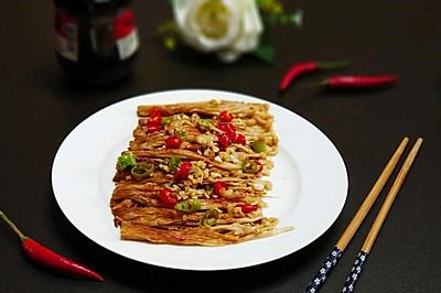 #美味烤箱菜,就等你来做!#蒜蓉烤金针菇