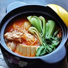 五花肉豆腐泡菜锅