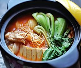 五花肉豆腐泡菜锅的做法