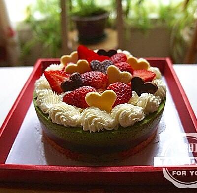 抹茶巧克力双层冻芝士蛋糕(6寸)——师傅,生日快乐哦~