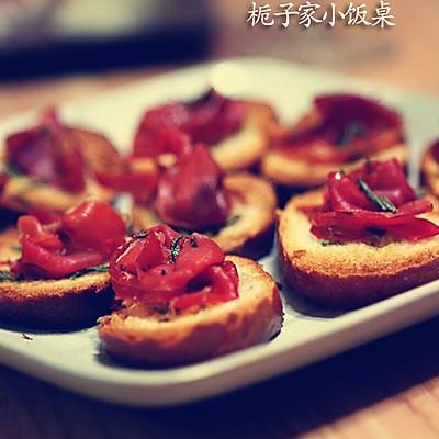 自制西班牙小吃Tapas,美味的西班牙火腿