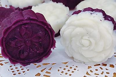 奶香紫薯山药糕