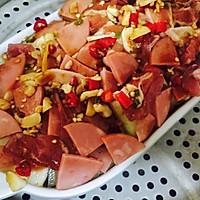#爽口凉菜,开胃一夏!#五花肉火腿蒸冬瓜的做法图解9