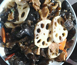 莲藕木耳炒肉片的做法