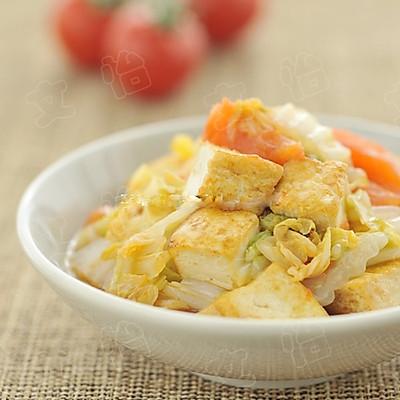 西紅柿白菜炒豆腐
