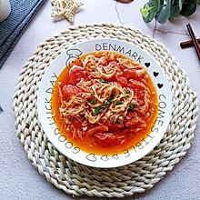 低脂低卡营养美味家常番茄炒金针菇