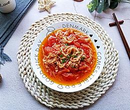 低脂低卡营养美味家常番茄炒金针菇的做法
