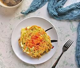#全电厨王料理挑战赛热力开战!#蔬菜土豆丝鸡蛋煎饼的做法