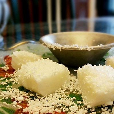 椰奶冻/椰丝小方『椰味超足 无淡奶油低脂低糖版』