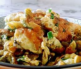 牡蛎香葱煎蛋的做法