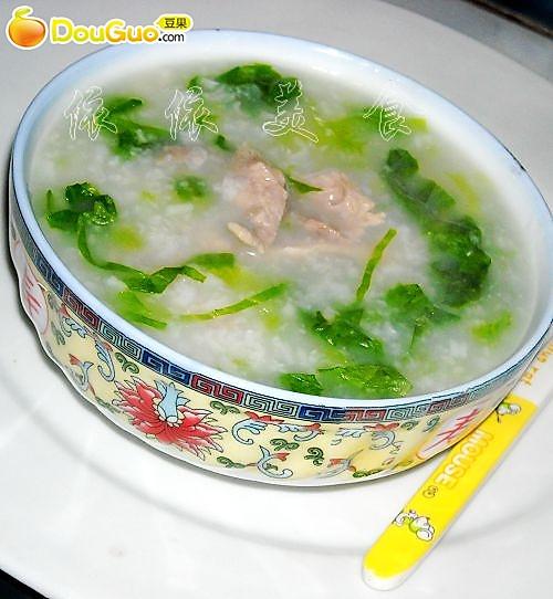 生菜肉片粥的做法