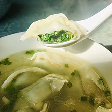 #换着花样吃早餐#上海荠菜大馄饨(上海大馄饨)